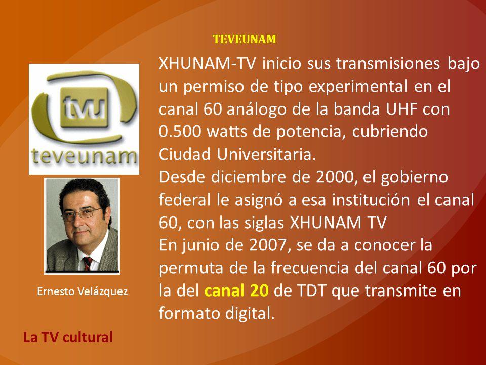 TEVEUNAM XHUNAM-TV inicio sus transmisiones bajo un permiso de tipo experimental en el canal 60 análogo de la banda UHF con 0.500 watts de potencia, c