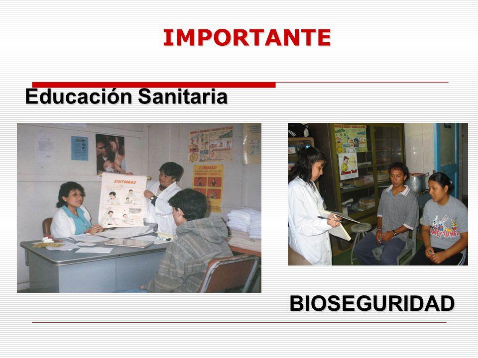 IMPORTANTE BIOSEGURIDAD Educación Sanitaria