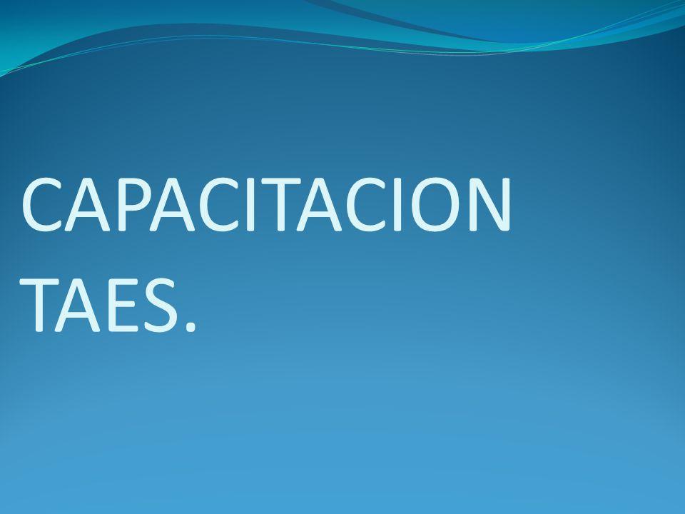 CAPACITACION TAES.