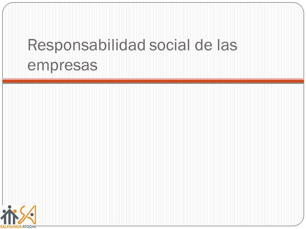 Responsabilidad social de las empresas
