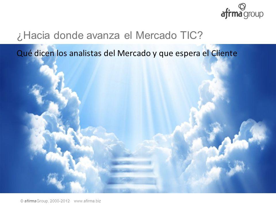 © afirmaGroup, 2000-2012 www.afirma.biz ¿Hacia donde avanza el Mercado TIC? Qué dicen los analistas del Mercado y que espera el Cliente