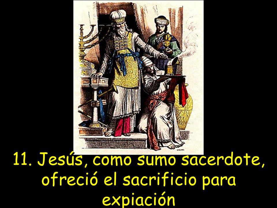 11. Jesús, como sumo sacerdote, ofreció el sacrificio para expiación