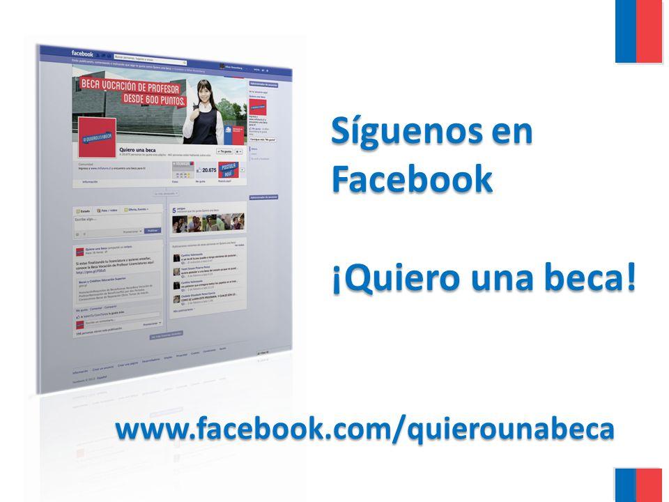 www.facebook.com/quierounabeca Síguenos en Facebook ¡Quiero una beca!
