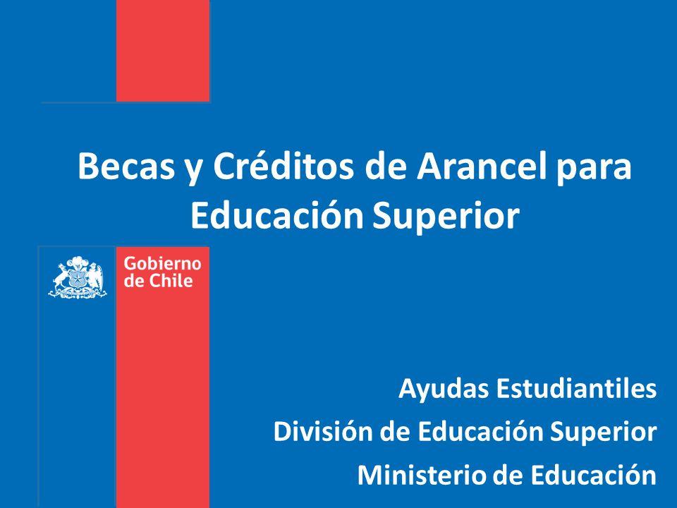 Becas y Créditos de Arancel para Educación Superior Ayudas Estudiantiles División de Educación Superior Ministerio de Educación