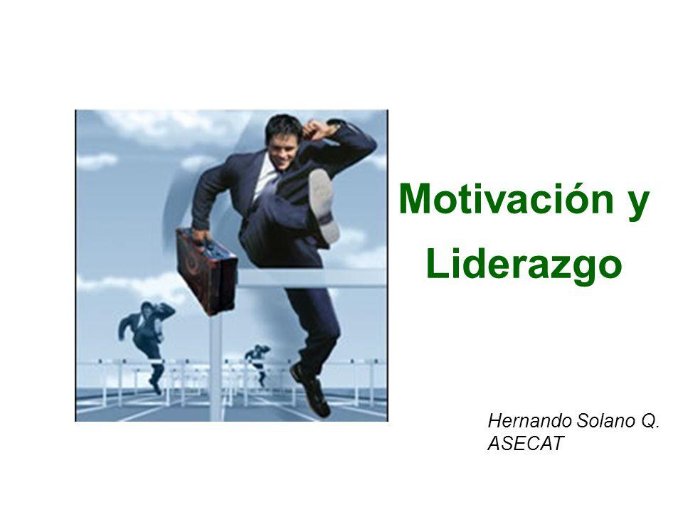 Motivación y Liderazgo Hernando Solano Q. ASECAT