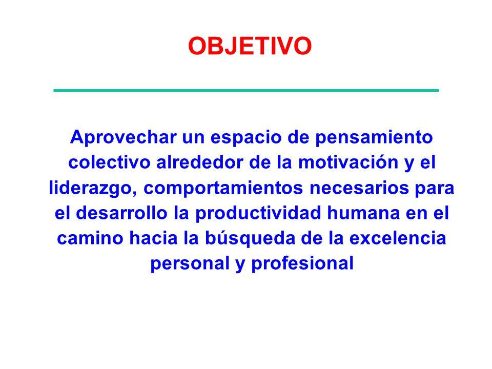 Contenidos 1.Conceptos de Motivación 2.Liderazgo transformador 1.Cultura: Principios y Valores 2.Comunicación humana 3.Trabajo productivo en equipo 4.Resolución pacífica de Conflictos