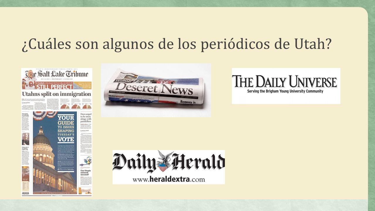 ¿Cuáles son algunos de los periódicos de Utah?