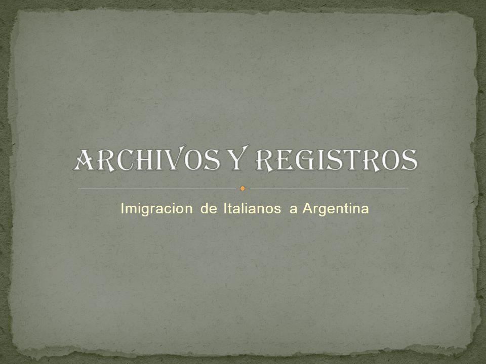 Imigracion de Italianos a Argentina