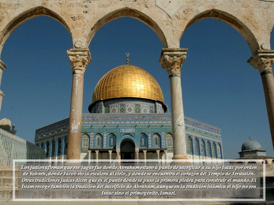 Cúpula de la Roca, es un templo islámico situado en el centro de la Explanada de las Mezquitas.