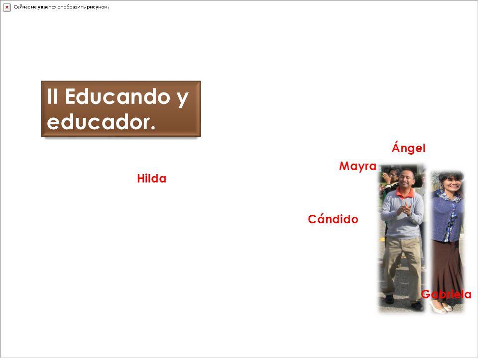 II Educando y educador. Cándido Hilda Mayra Ángel Gabriela