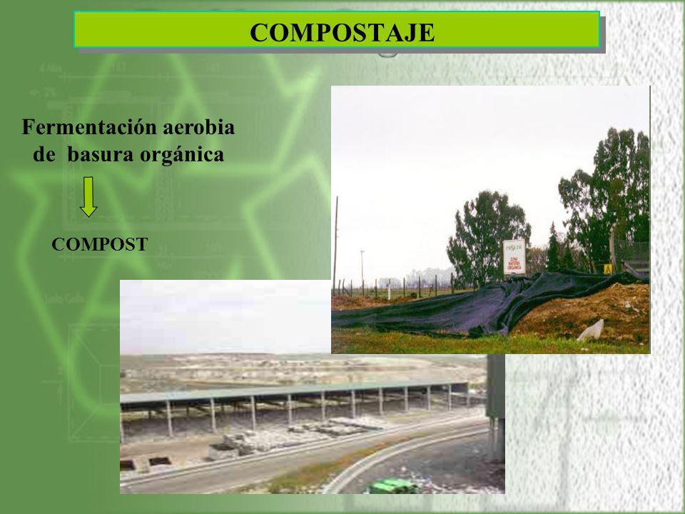 COMPOSTAJE Fermentación aerobia de basura orgánica COMPOST