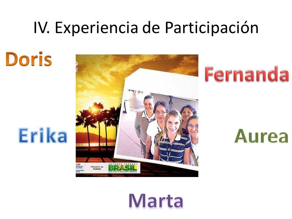 IV. Experiencia de Participación