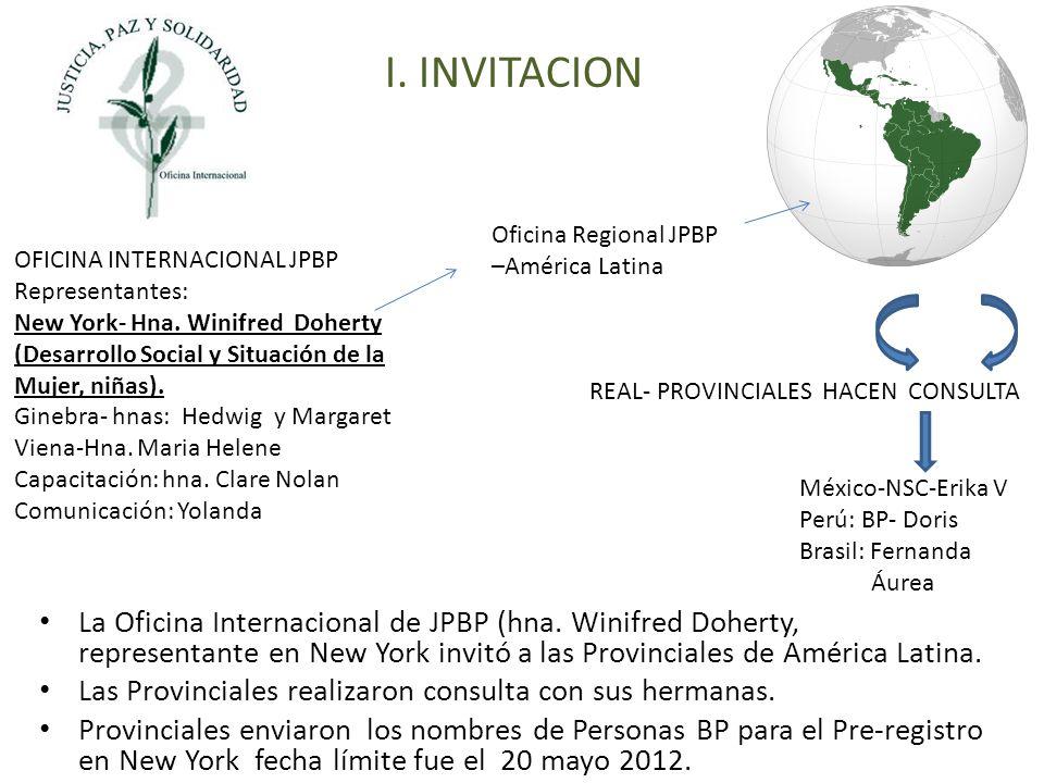 La Oficina Internacional de JPBP (hna.