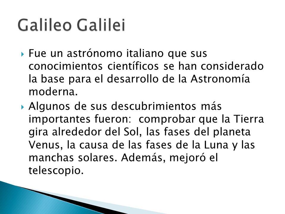 Fue un astrónomo italiano que sus conocimientos científicos se han considerado la base para el desarrollo de la Astronomía moderna. Algunos de sus des
