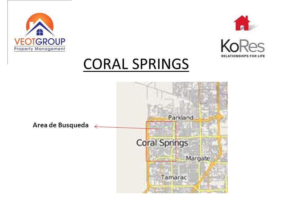 CORAL SPRINGS Area de Busqueda