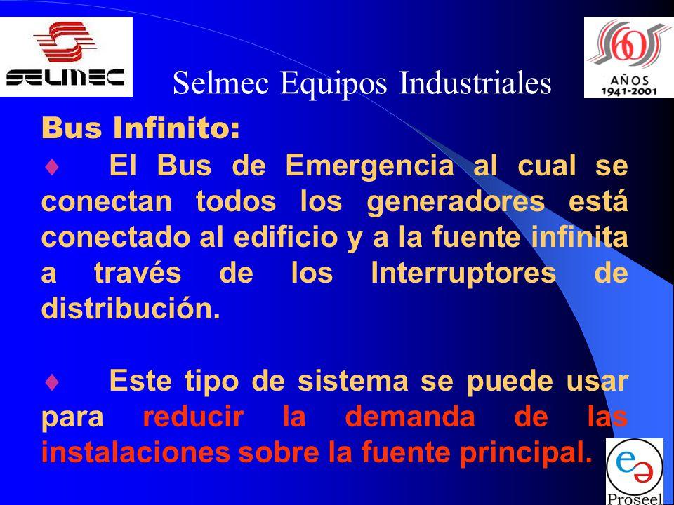 Selmec Equipos Industriales Bus Infinito: El Bus de Emergencia al cual se conectan todos los generadores está conectado al edificio y a la fuente infi