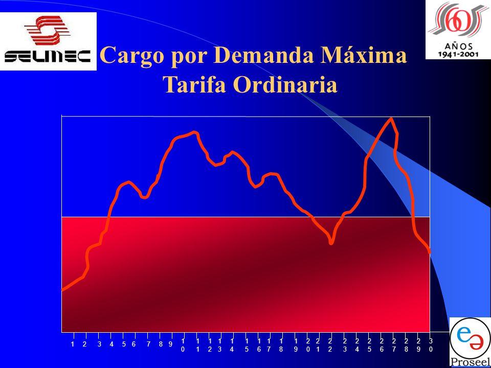 Cargo por Demanda Máxima Tarifa Ordinaria 1010 1111 1212 1313 1414 1515 1616 1717 1818 1919 2020 2121 2222 2323 2424 2525 2626 2727 2828 2929 3030 123456789