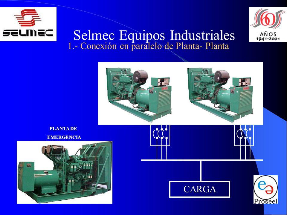 Selmec Equipos Industriales 1.- Conexión en paralelo de Planta- Planta CARGA PLANTA DE EMERGENCIA