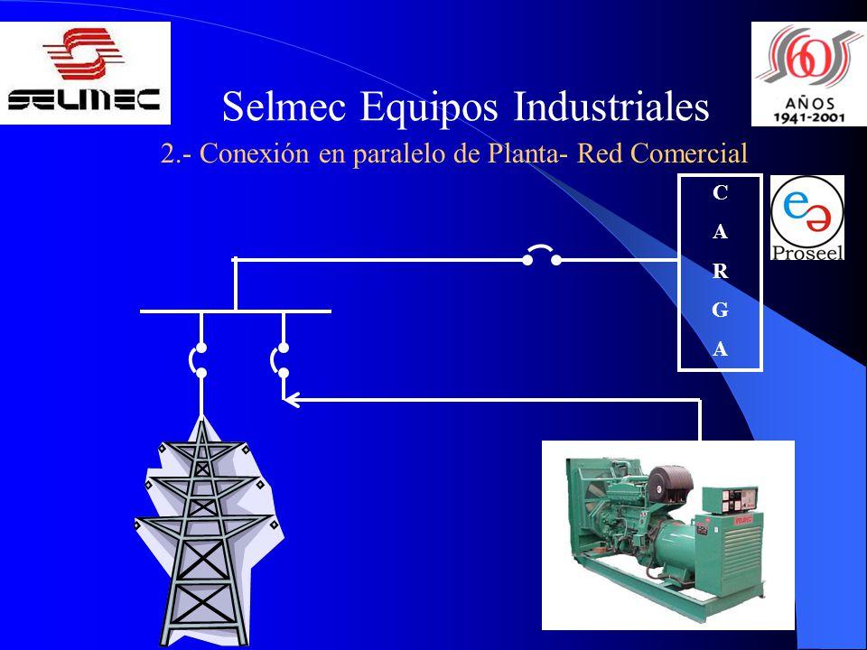 Selmec Equipos Industriales 2.- Conexión en paralelo de Planta- Red Comercial CARGACARGA