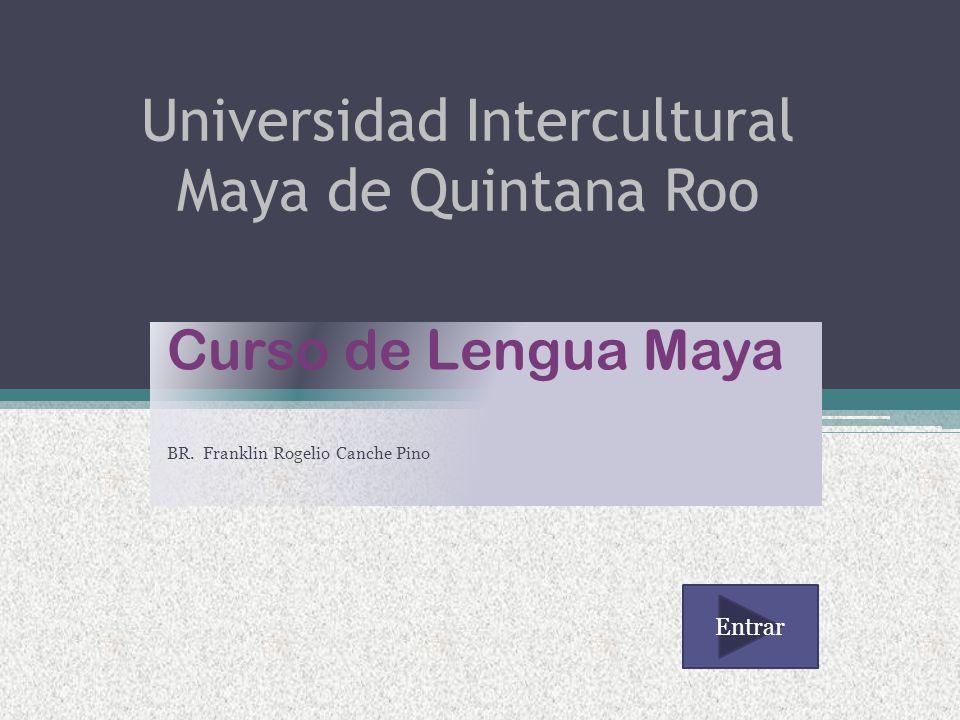 Universidad Intercultural Maya de Quintana Roo Curso de Lengua Maya BR.