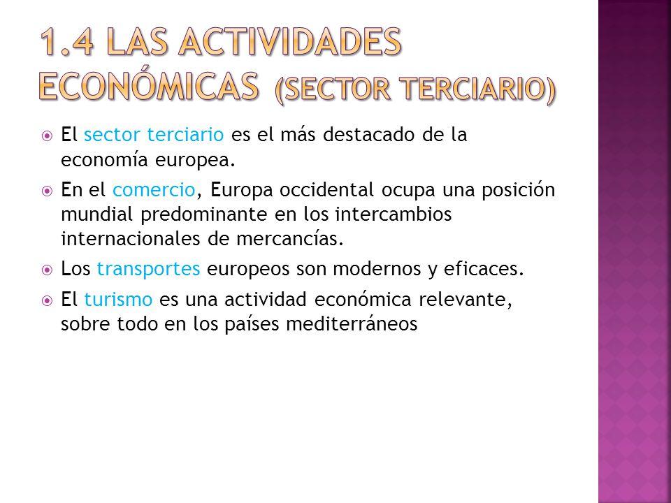 El sector terciario es el más destacado de la economía europea.