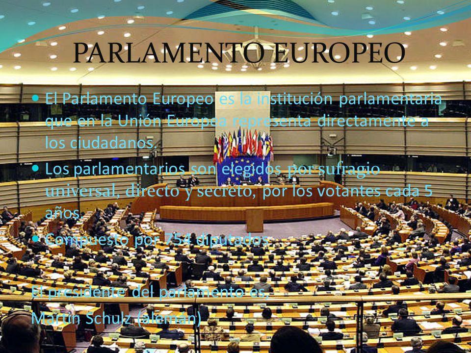 Las funciones principales son Estudia las propuestas de la Comisión en el procedimiento legislativo.