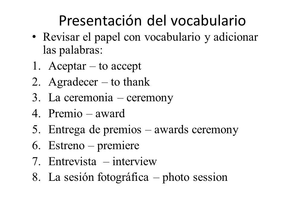 Describe con tus palabras en español: 1.Película 2.Actor 3.Premio
