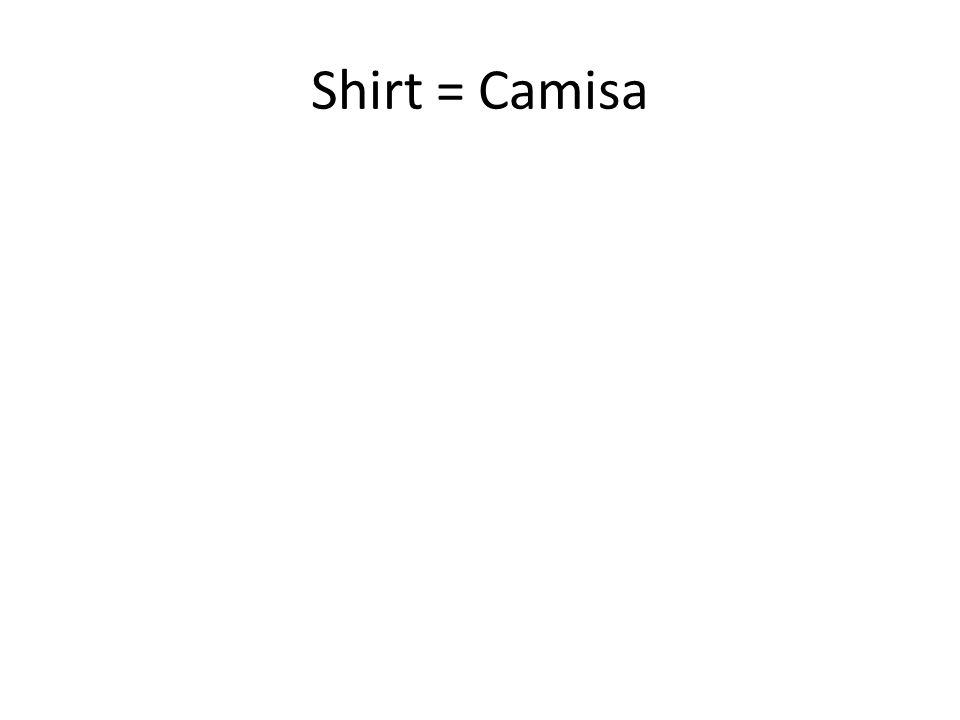 Shirt =