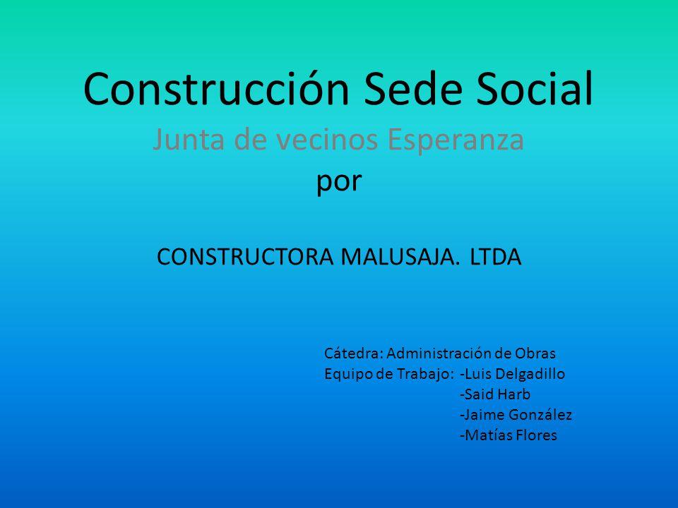 ALCANCES OBRA Mandante ObraGobierno Regional de Valparaíso a través del Fondo Regional de Iniciativa Local (FRIL) Unidad Técnica (ITO)Corresponde a la I.