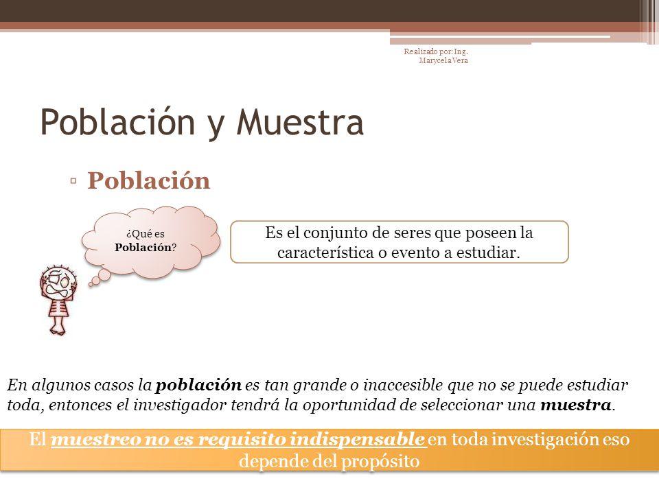 Población y Muestra Población Es el conjunto de seres que poseen la característica o evento a estudiar. ¿Qué es Población? El muestreo no es requisito