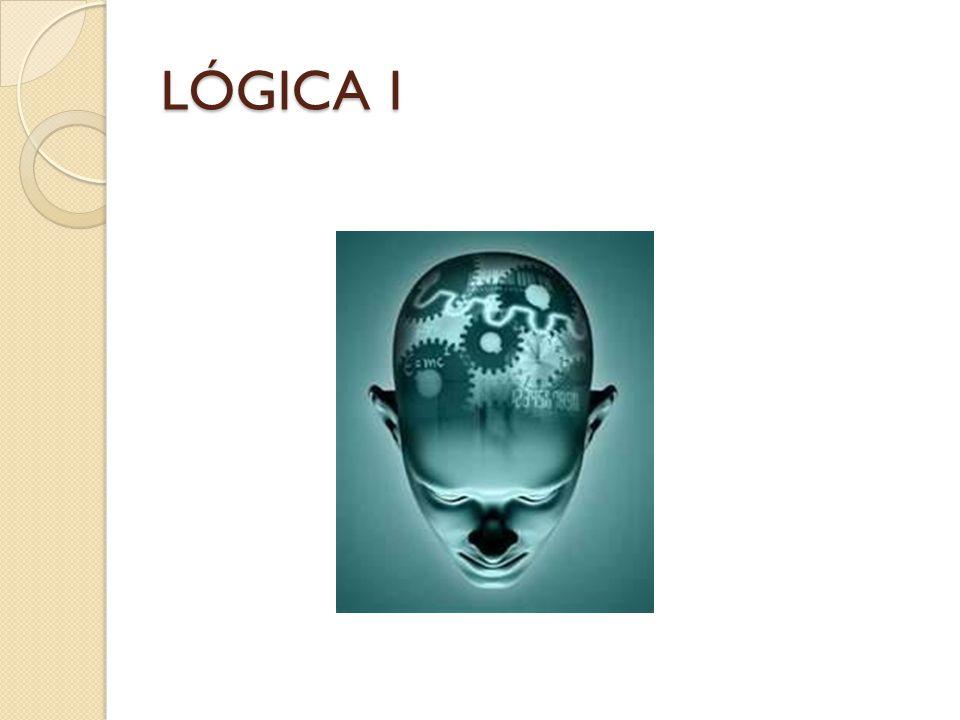 LÓGICA Rama de la Filosofía.Estudia las estructuras o formas del pensamiento.
