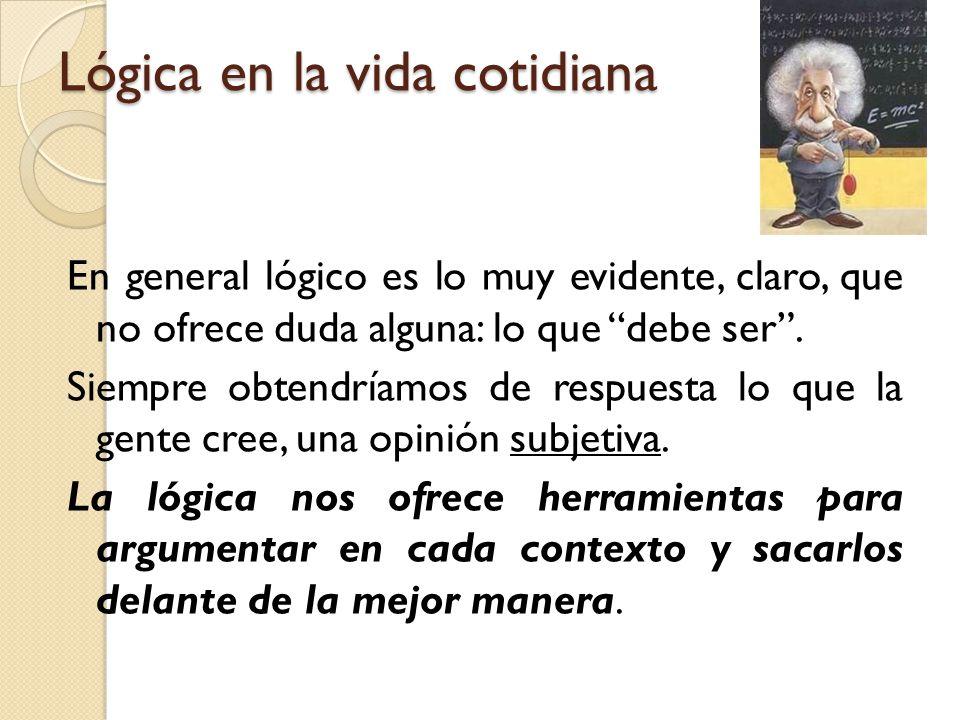 Lógica en la vida cotidiana y en la investigación.