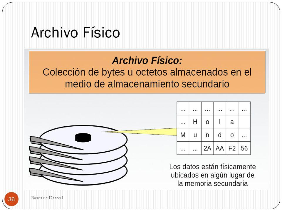 Archivo Físico Bases de Datos I 36