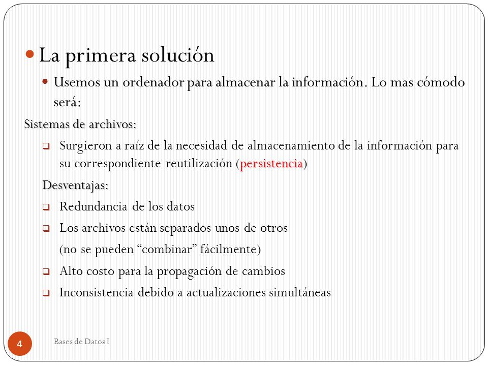 Nivel de Visión Algunas visiones de usuario pueden incluir: Agrupados Datos Agrupados: Totales por Dpto.
