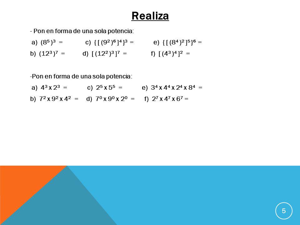 Repaso 6 Sumas: a) 843 + 1.565 + 128 + 43 + 8.354 = b) 16 + 423 + 5.638 + 53 + 9 + 345 = c) 2.383 + 15.923 + 645 + 24.850 + 43 = d) 635 + 8.479 + 2.647 + 8 + 9.345 = e) 12.364 + 5.480 + 27 + 34.825 + 463 = Restas: Multiplicaciones: f) 15.648 - 9.364 = k) 58.326 x 384 = g) 24.832 - 19.480 = l) 63.250 x 159 = h) 34.625 - 8.236 = m) 1.279 x 76 = i) 538.267 - 493.824 = n) 32.894 x 2.345 = j) 635.832 - 236.540 = o) 63.428 x 5.893 = Divisiones: p) 58.425 : 5 = s) 948.265 : 697 = q) 63.824 : 43 = t) 1.295.423 : 5.643 = r) 74.823 : 345 = u) 3.452.857 : 2.975 =