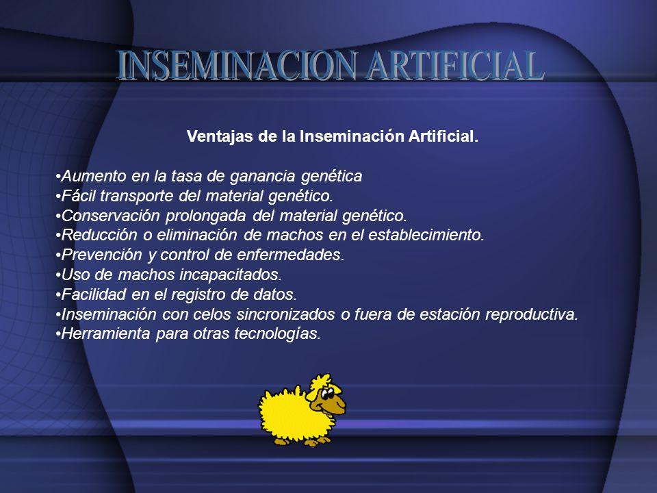 Ventajas de la Inseminación Artificial.