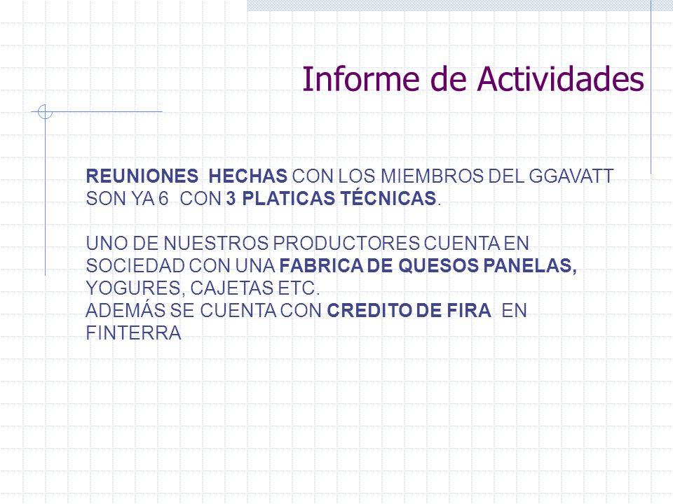 REUNIONES HECHAS CON LOS MIEMBROS DEL GGAVATT SON YA 6 CON 3 PLATICAS TÉCNICAS.