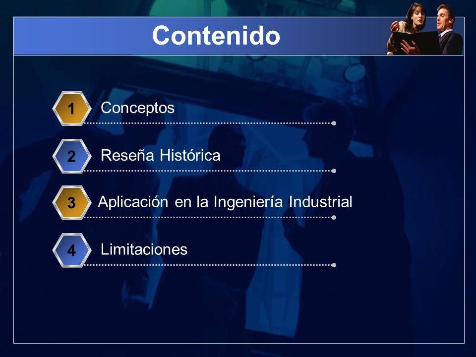 Contenido Conceptos 1 Reseña Histórica 2 Aplicación en la Ingeniería Industrial 3 Limitaciones 4