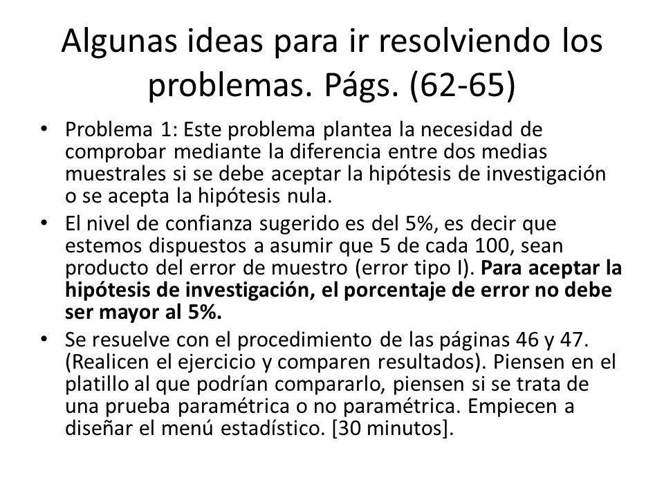Algunas ideas para ir resolviendo los problemas.Págs.