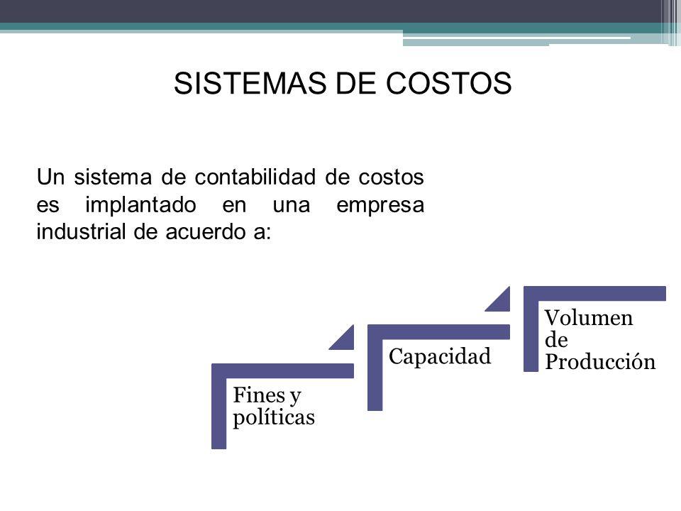 SISTEMAS DE COSTOS Un sistema de costos es eficiente cuando: Proporciona en forma oportuna y detallado a la gerencia los elementos del costos utilizados en el procedo de producción.