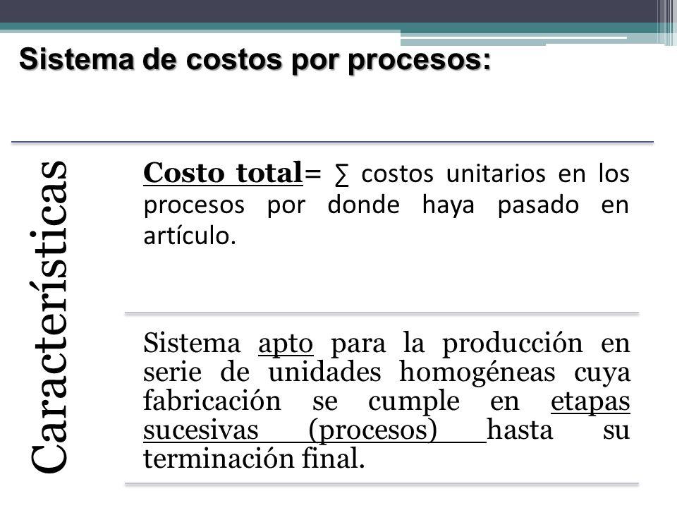 Costeo por: Órdenes de Trabajo Los productos difieren en cuanto a las necesidades de materiales y conversión.