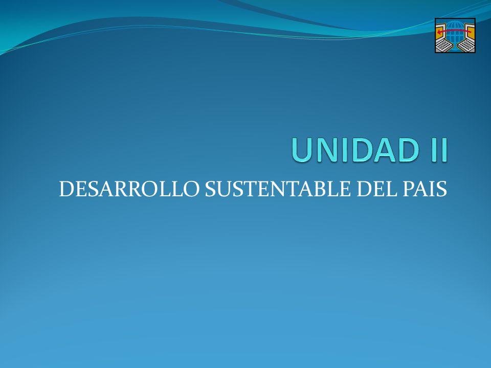 OBJETIVOS DE LA UNIDAD PARTICULARES: FORMARSE UNA IDEA GENERAL SOBRE EL DESARROLLO SOCIOECONÓMICO Y SUSTENTABLE DEL PAIS EN LAS ÚLTIMAS DÉCADAS