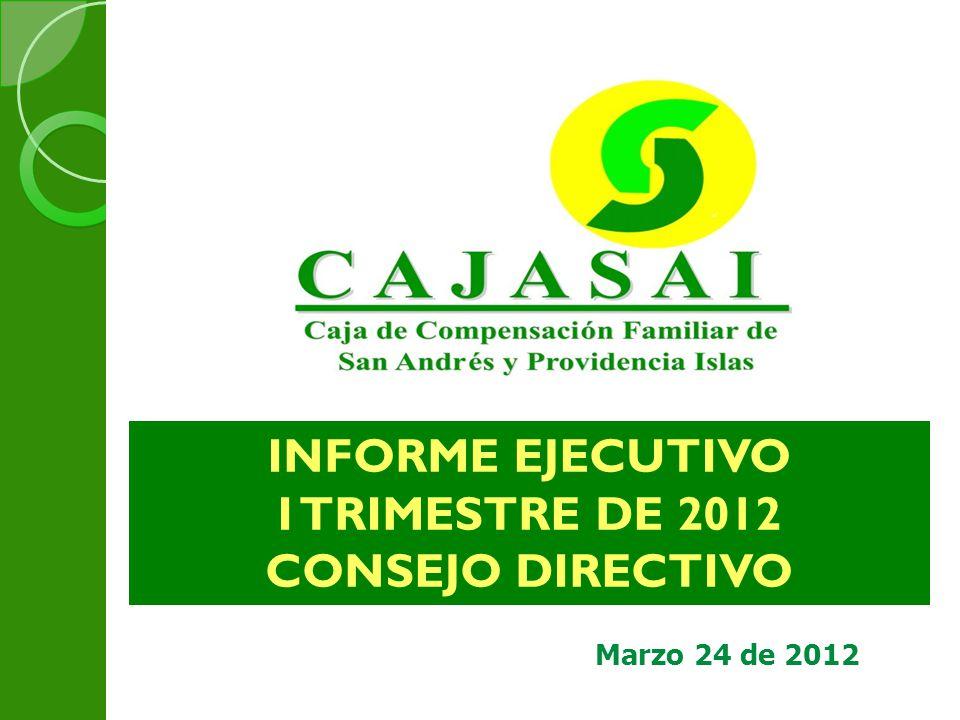 Marzo 24 de 2012 INFORME EJECUTIVO I TRIMESTRE DE 2012 CONSEJO DIRECTIVO