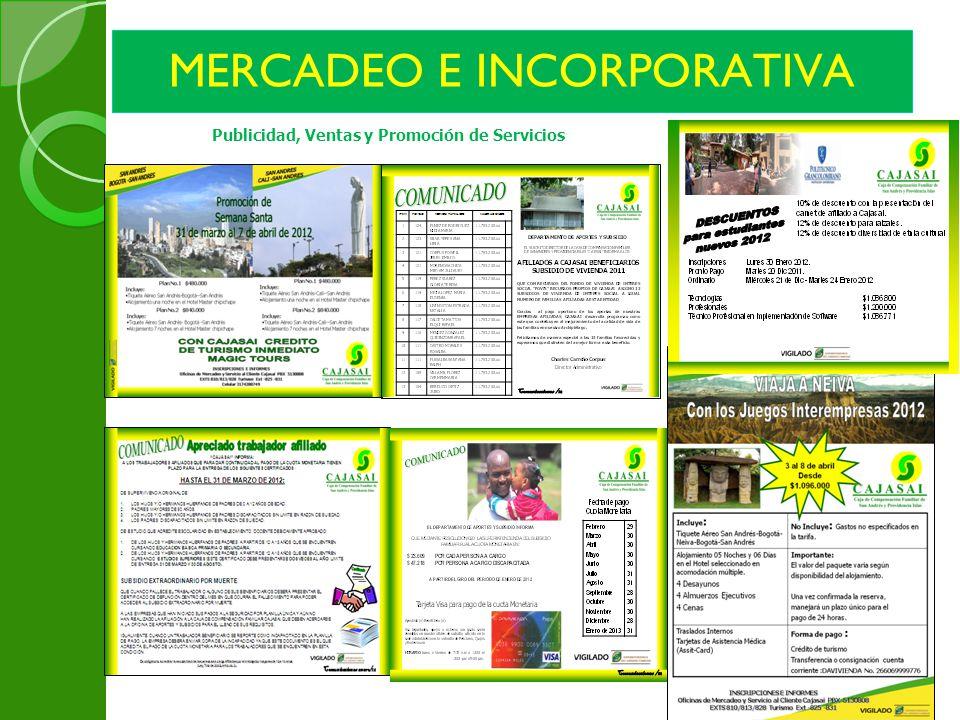 MERCADEO E INCORPORATIVA Publicidad, Ventas y Promoción de Servicios
