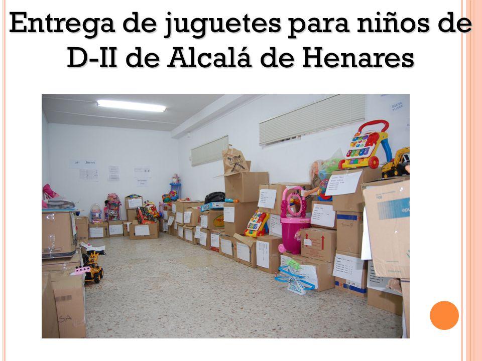 Entrega de juguetes para niños de D-II de Alcalá de Henares Puzzles
