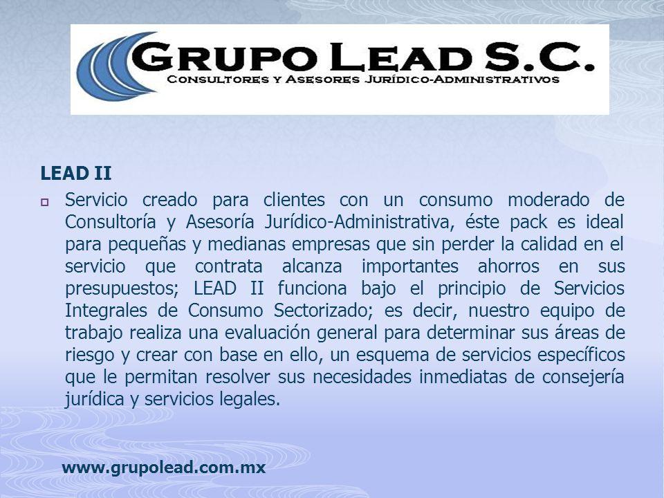 Servicio creado para clientes con un consumo moderado de Consultoría y Asesoría Jurídico-Administrativa, éste pack es ideal para pequeñas y medianas e