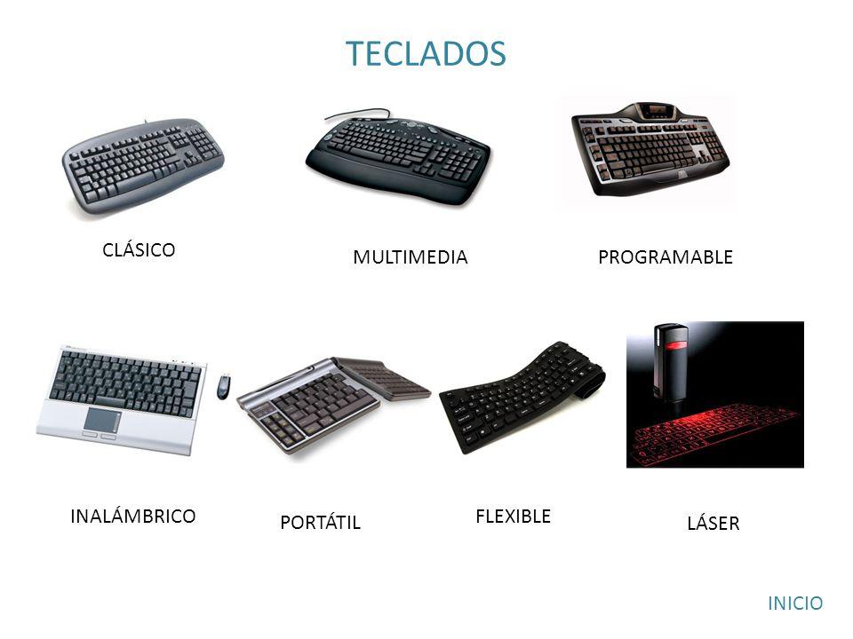 TECLADOS CLÁSICO MULTIMEDIAPROGRAMABLE PORTÁTIL INALÁMBRICOFLEXIBLE LÁSER INICIO