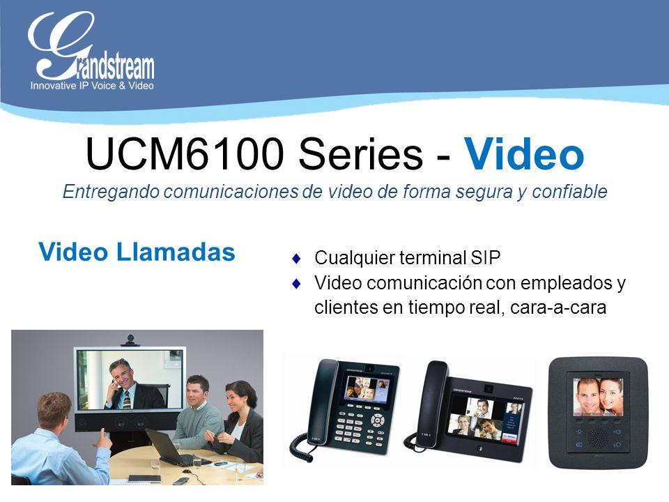 Video Llamadas Cualquier terminal SIP Video comunicación con empleados y clientes en tiempo real, cara-a-cara UCM6100 Series - Video Entregando comuni