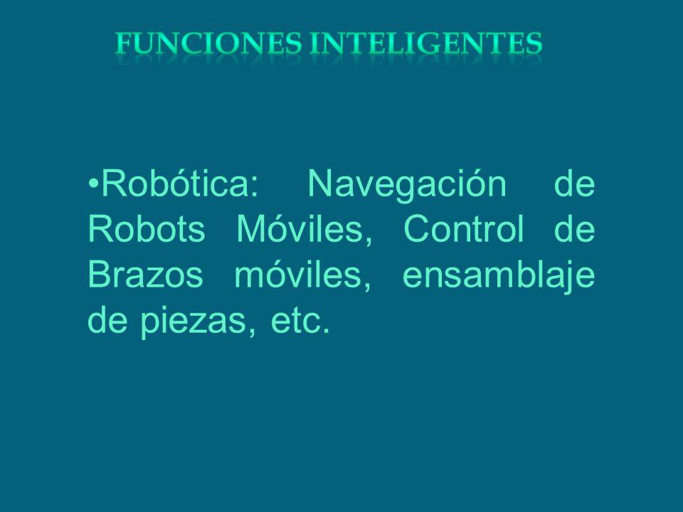 Robótica: Navegación de Robots Móviles, Control de Brazos móviles, ensamblaje de piezas, etc.
