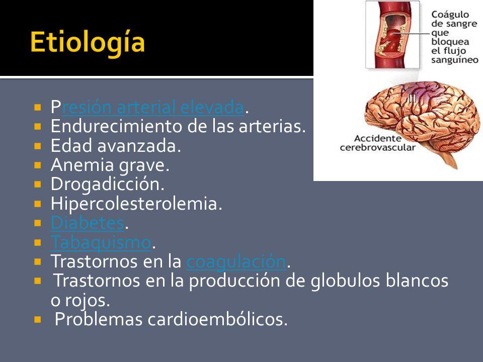 Presión arterial elevada.resión arterial elevada Endurecimiento de las arterias.